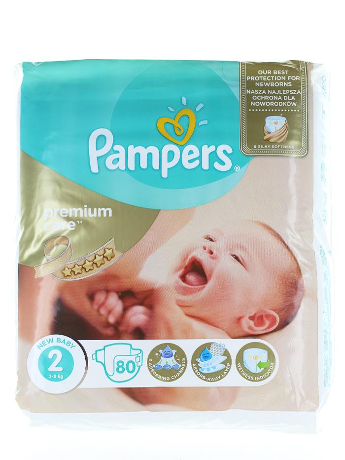 Pampers Scutece nr.2 Mini 3-6 kg 80 buc Premium Care imagine produs