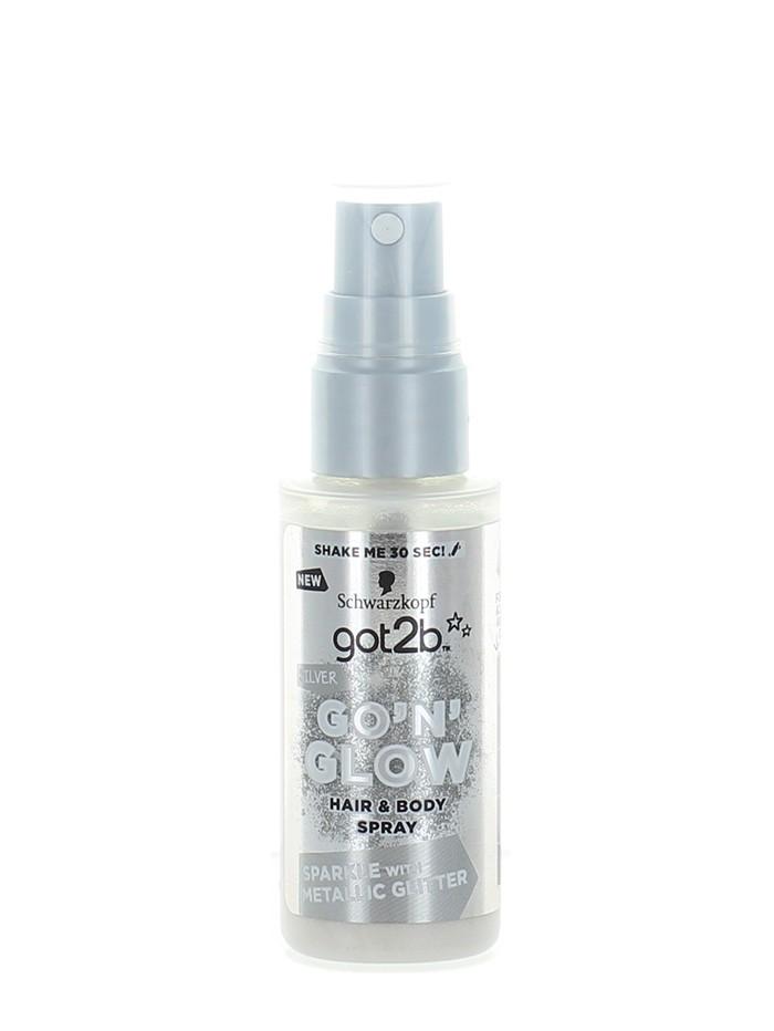 Got2B Spray cu sclipici pentru par si corp 50 ml Silver imagine produs