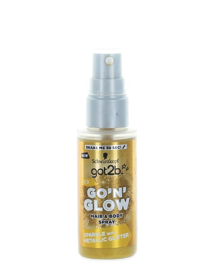 Got2B Spray cu sclipici pentru par si corp 50 ml Gold imagine produs