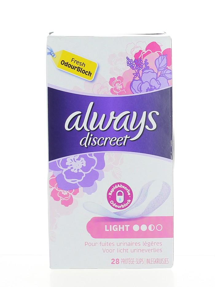 Always Discreet Absorbante zilnice pentru incontinenta 28 buc Light imagine produs