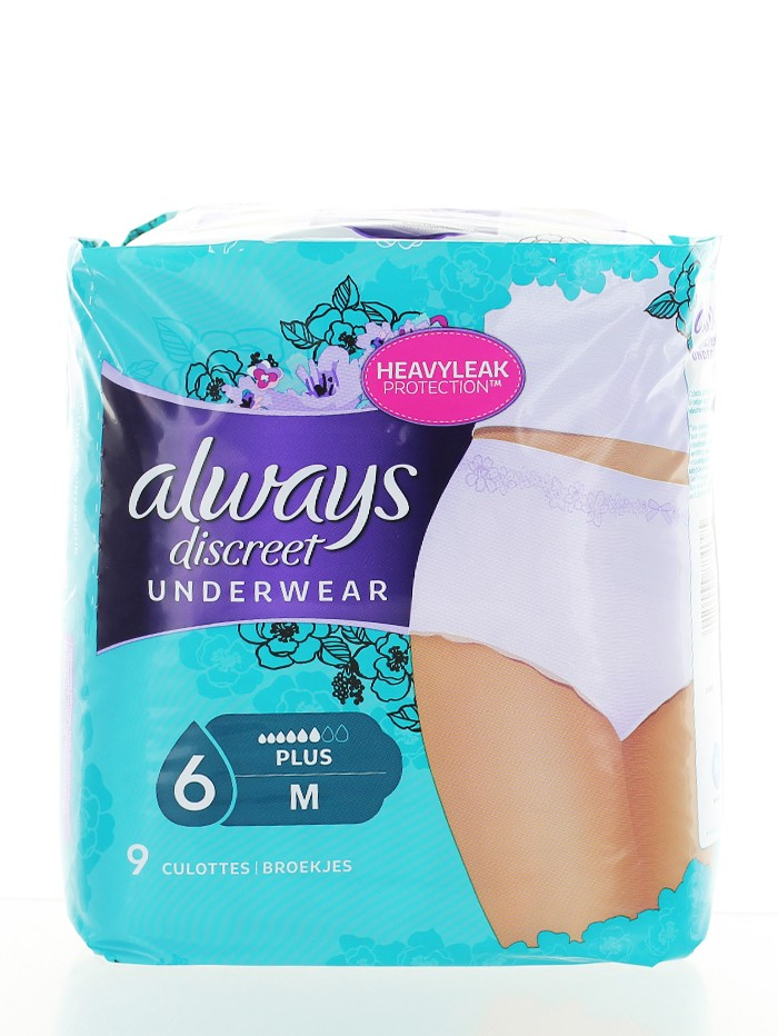 Always Discreet Chiloti pentru incontinenta urinara 9 buc M 6 Plus imagine produs