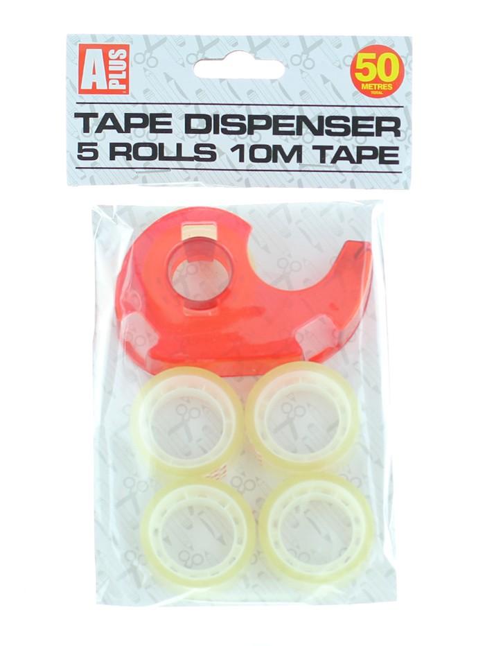 Banda adeziva transparenta cu dispenser 10 M (5 role) imagine produs