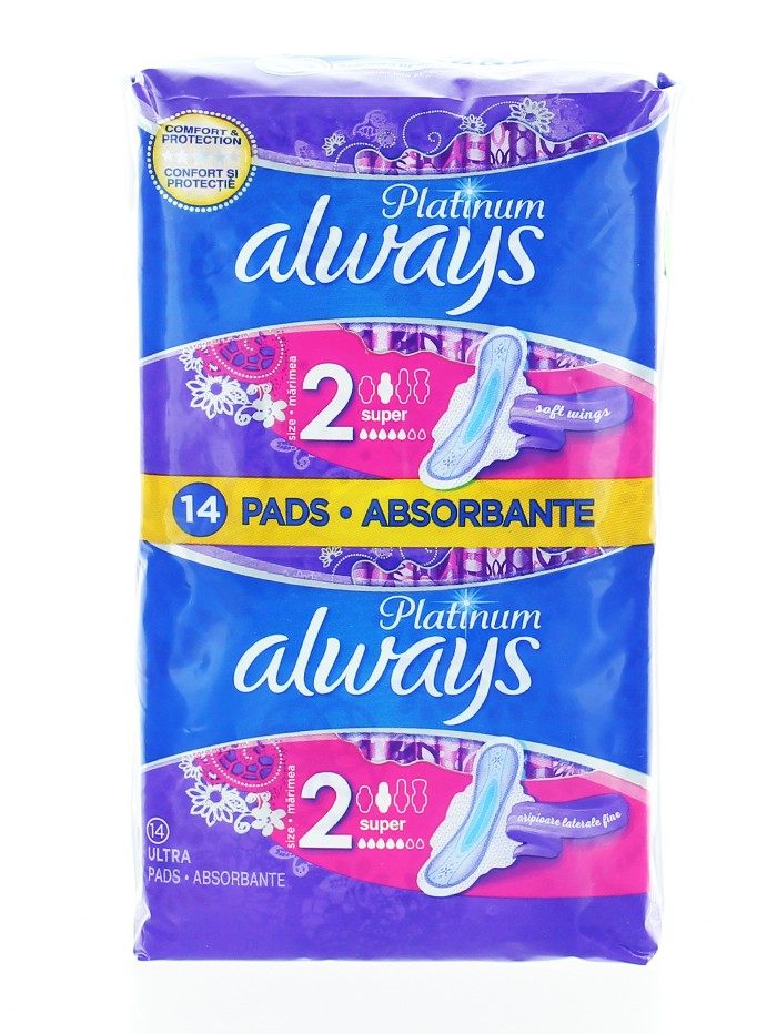 Always Absorbante 14 buc Platinum Super S2 imagine produs