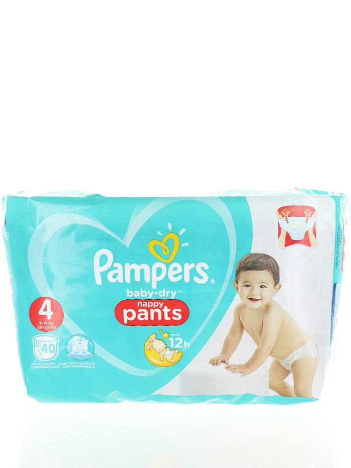 Pampers Scutece chilotel nr. 4 9-15 kg 40 buc Baby-Dry imagine produs