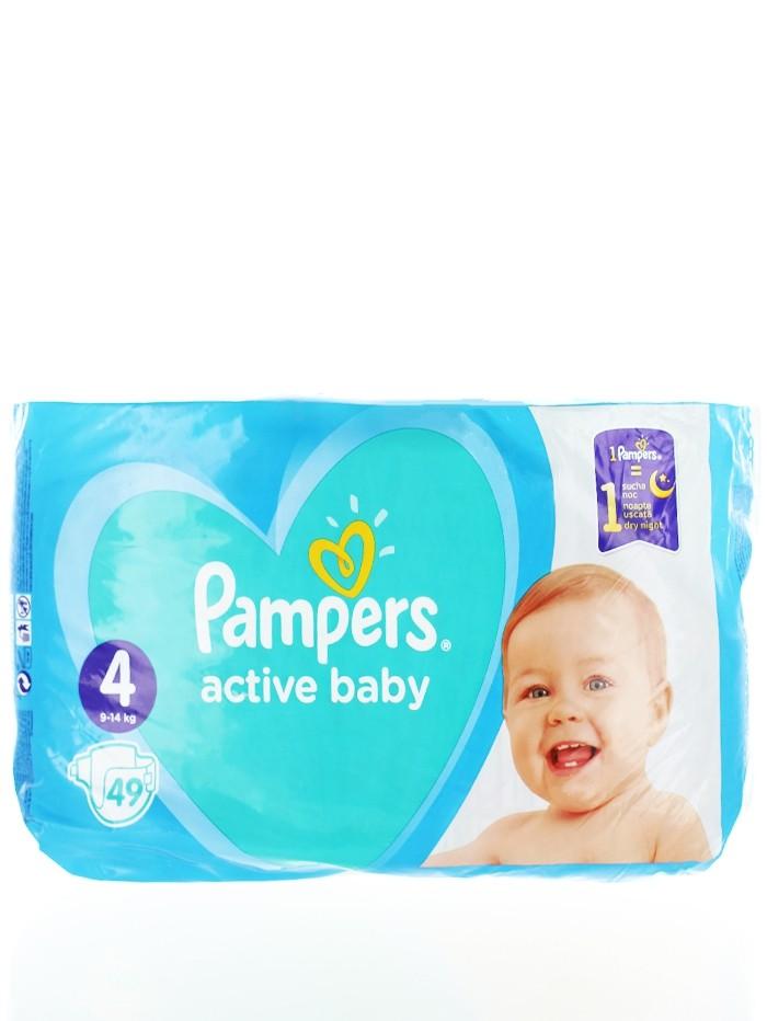 Pampers Scutece nr.4 9-14 kg 49 buc Active Baby imagine produs