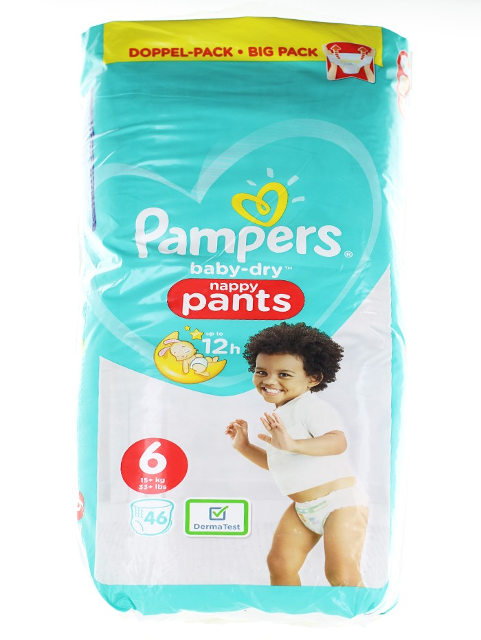 Pampers scutece chilotel nr.6 15+ kg 46 buc Baby-Dry imagine produs
