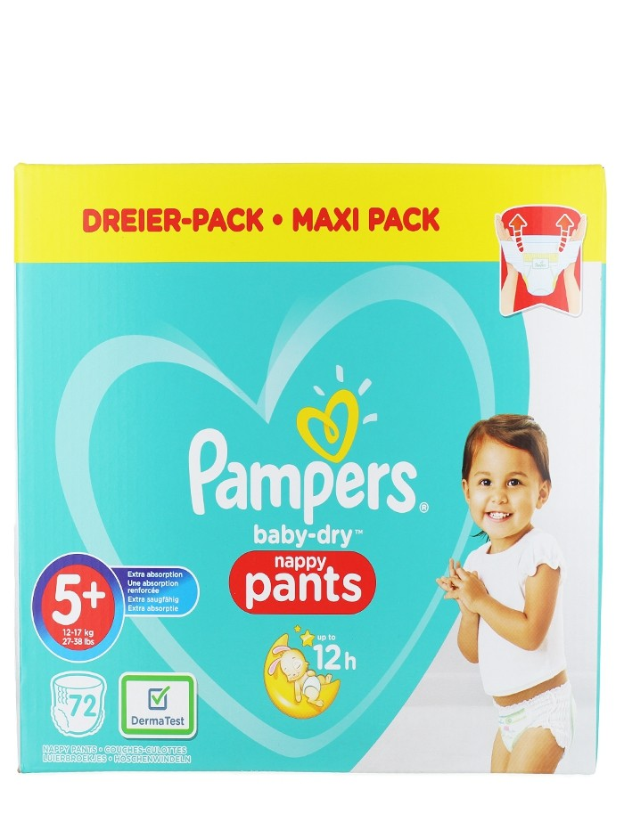 Pampers scutece chilotel nr. 5+ 12-17 kg 72 buc Baby-dry imagine produs