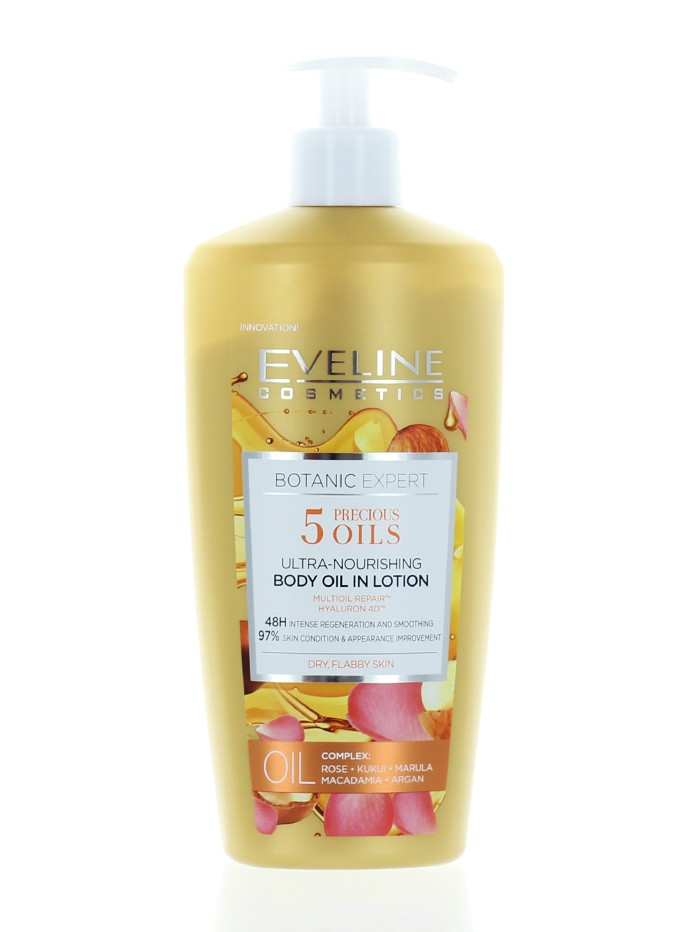 Eveline Lotiune de corp cu pompa 350 ml Botanic Expert 5 Precious Oils imagine produs