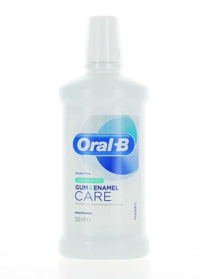 Oral-B Apa de gura 500 ml Gum & Enamel Fresh Mint imagine produs