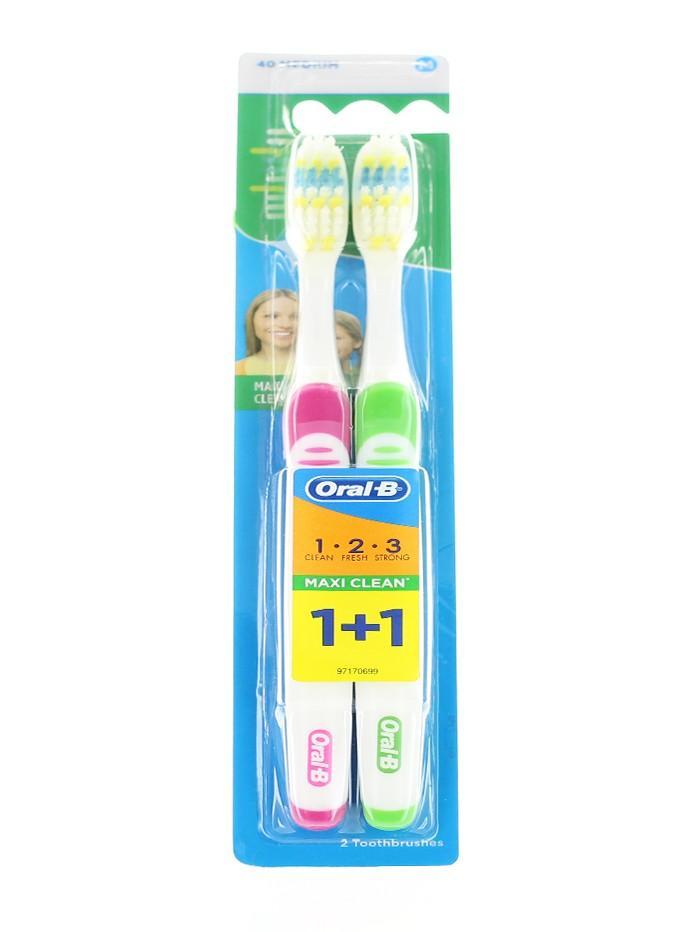 Oral-B Periuta de dinti 2 buc Maxi Clean 40 Medium imagine produs