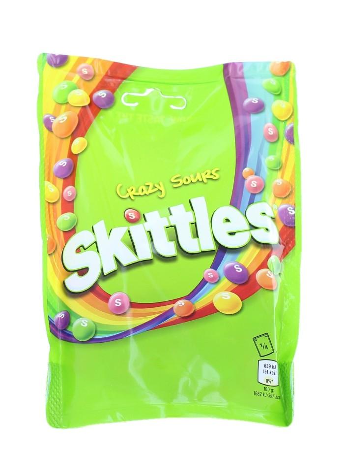 Skittles Bomboane gumate cu aroma de fructe 152 g Crazy Sours imagine produs