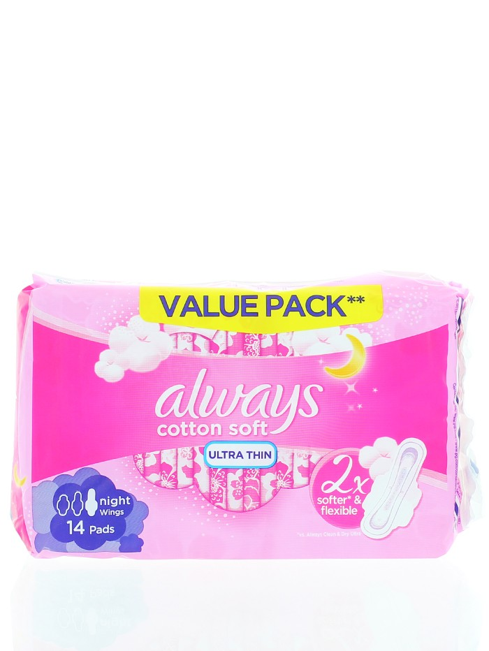 Always Absorbante 14 buc Night Ultra Thin imagine produs