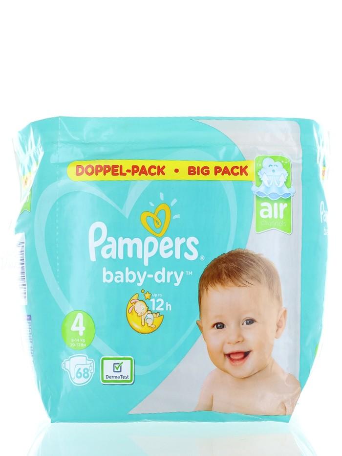 Pampers Scutece nr.4 9-14 kg 68 buc Baby-Dry imagine produs