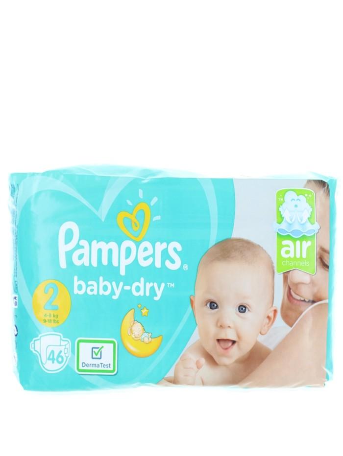 Pampers Scutece nr.2 4-8 kg 46 buc Baby-Dry imagine produs