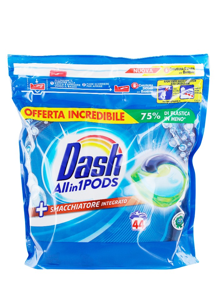 Dash Detergent Capsule 44 buc Allin1 Smacchiatore Integrato imagine produs