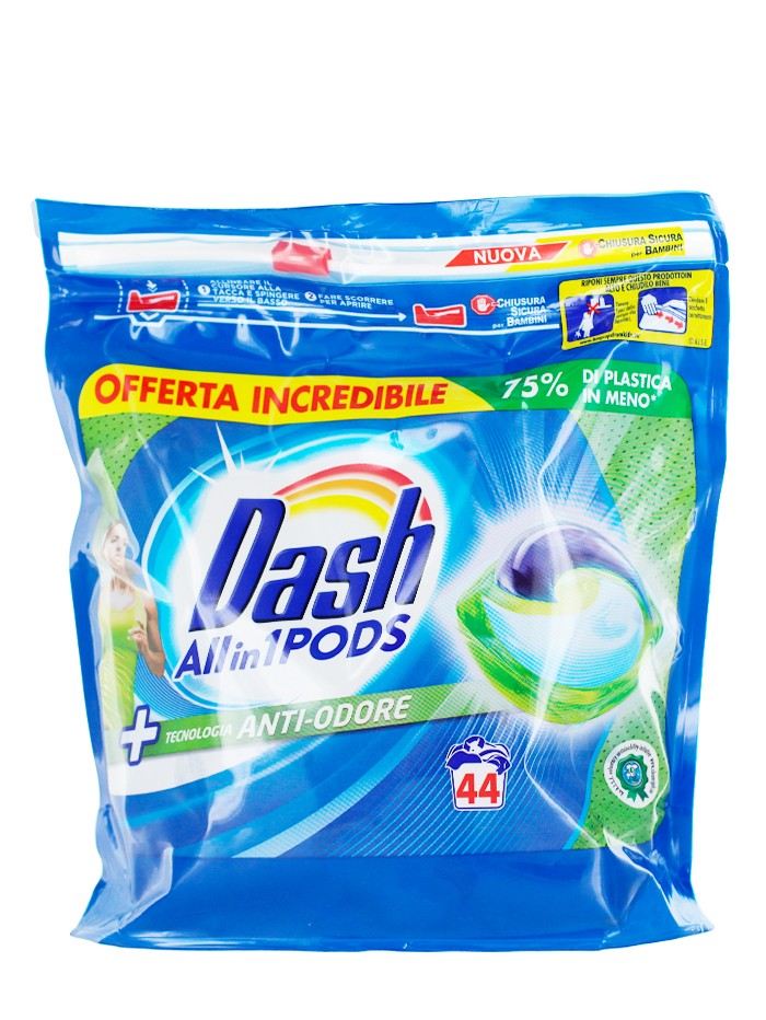 Dash Detergent Capsule 44 buc Allin1 Anti-Odore imagine produs