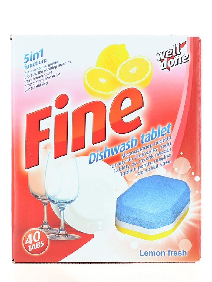 Well Done Fine Tablete pentru masina de spalat vase 40 buc Lemon Fresh imagine produs