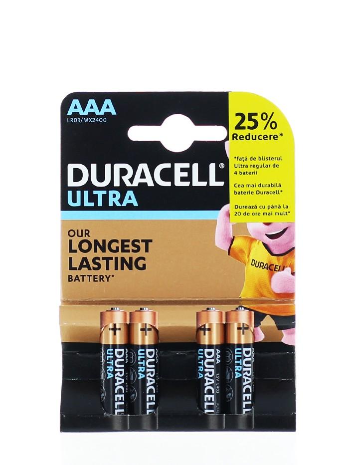 Duracell Baterii R3 4 buc Ultra Longest Lasting Alkaline imagine produs