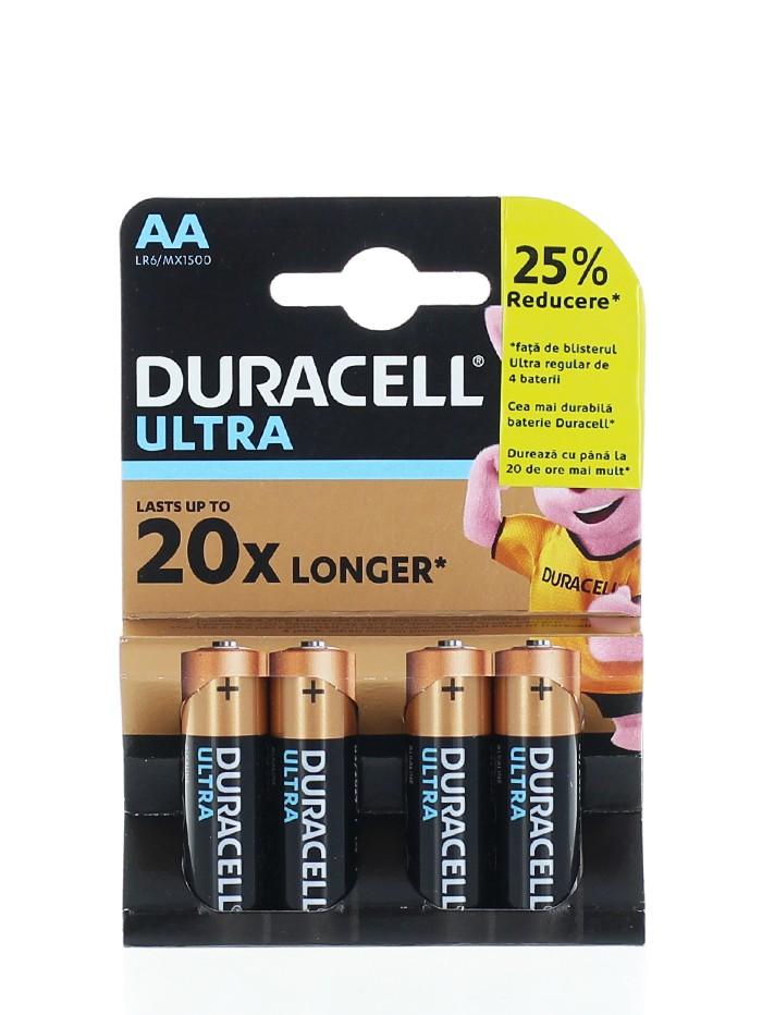 Duracell Baterii R6 4 buc Ultra Longest Lasting Alkaline imagine produs