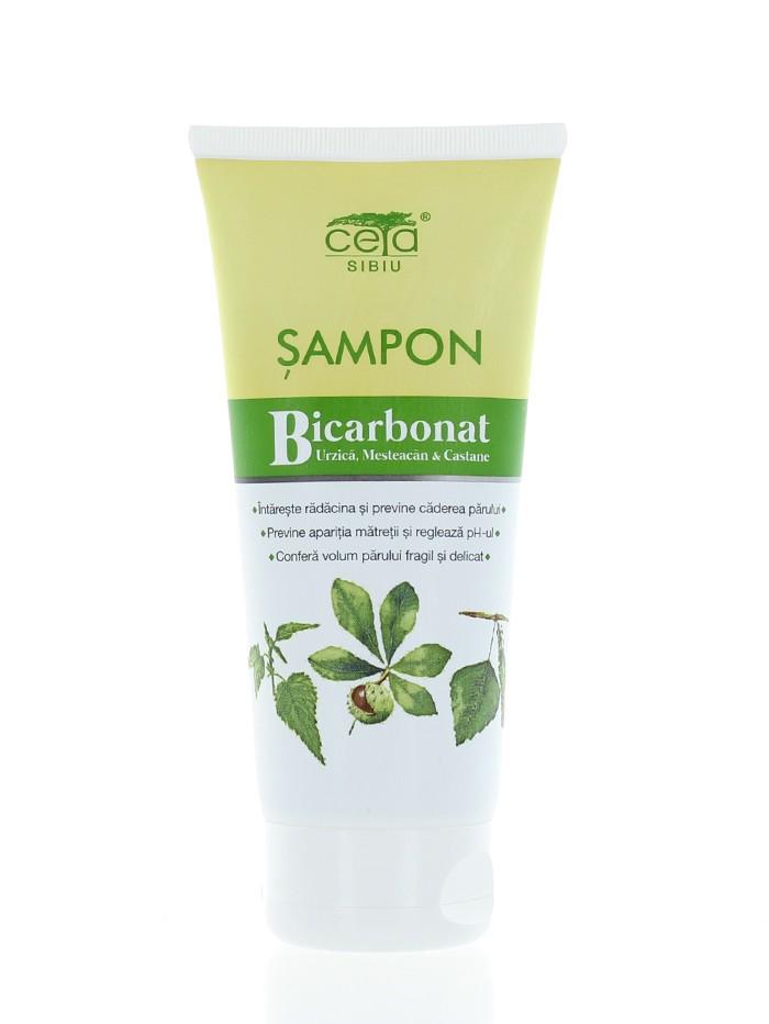 Ceta Sampon Cu Bicarbonat 200 ml Urzica,Mesteacan, Castane (in tub) imagine produs