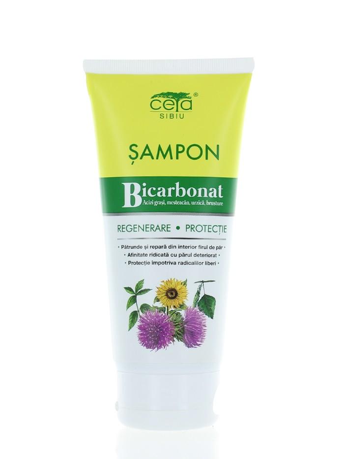 Ceta Sampon Regenerare Si Protectie Cu Bicarbonat 200 ml Acizi Grasi,Mesteacan,Urzica,Brusture(in tub) imagine produs