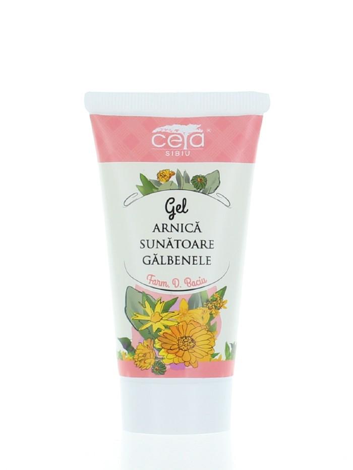 Ceta Gel Cu Extracte De Arnica, Sunatoare Si Galbenele 50 ml (in tub) imagine produs