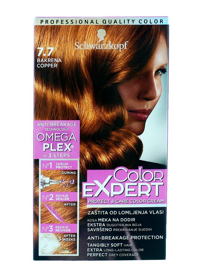 Schwarzkopf Vopsea de par Color Expert Nr 7.7 Copper imagine produs