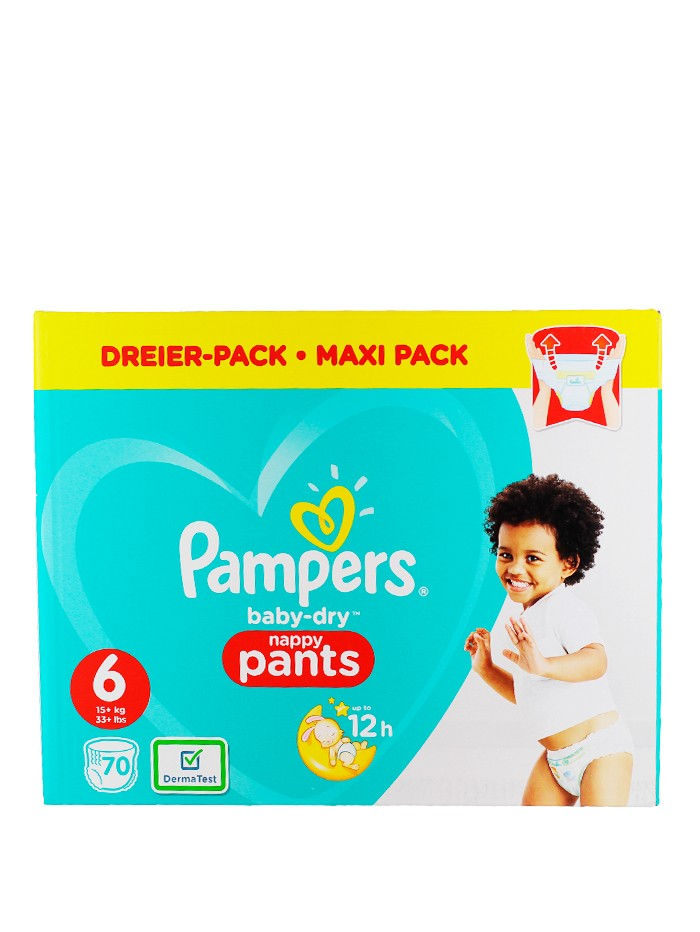 Pampers Scutece chilotel nr. 6 15+ kg 70 buc Baby-Dry imagine produs