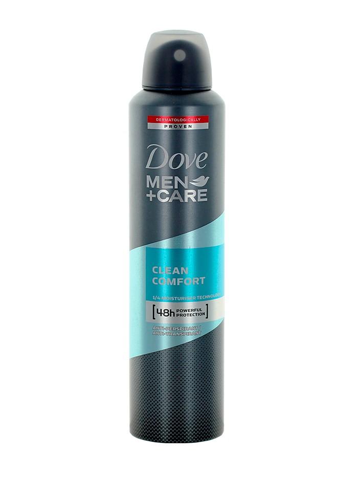 Dove Spray Deodorant Men+Care 250 ml Clean Comfort imagine produs