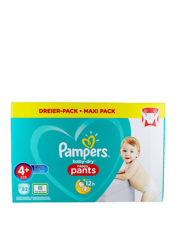 Pampers scutece chilotel nr.4+ 9-15 kg 82 buc Baby-Dry imagine produs