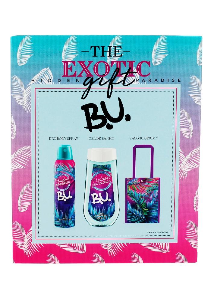 B.U. caseta femei:Parfum+Spray deodorant 50+150 ml Hidden paradise imagine produs