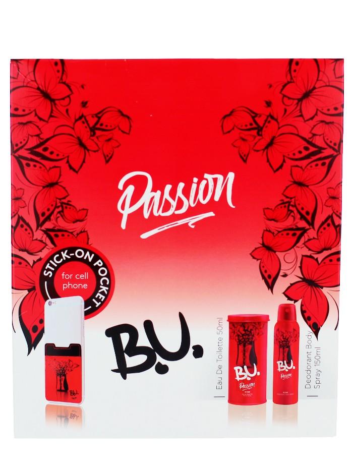 B.U. caseta femei:Parfum+Spray deodorant 50+150 ml Passion imagine produs