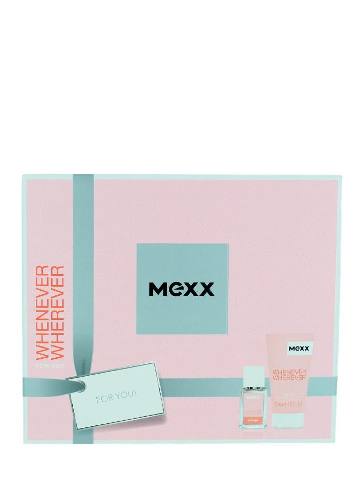 Mexx Caseta femei:Parfum+Gel de dus 15+50ml Whenever Wherever imagine produs