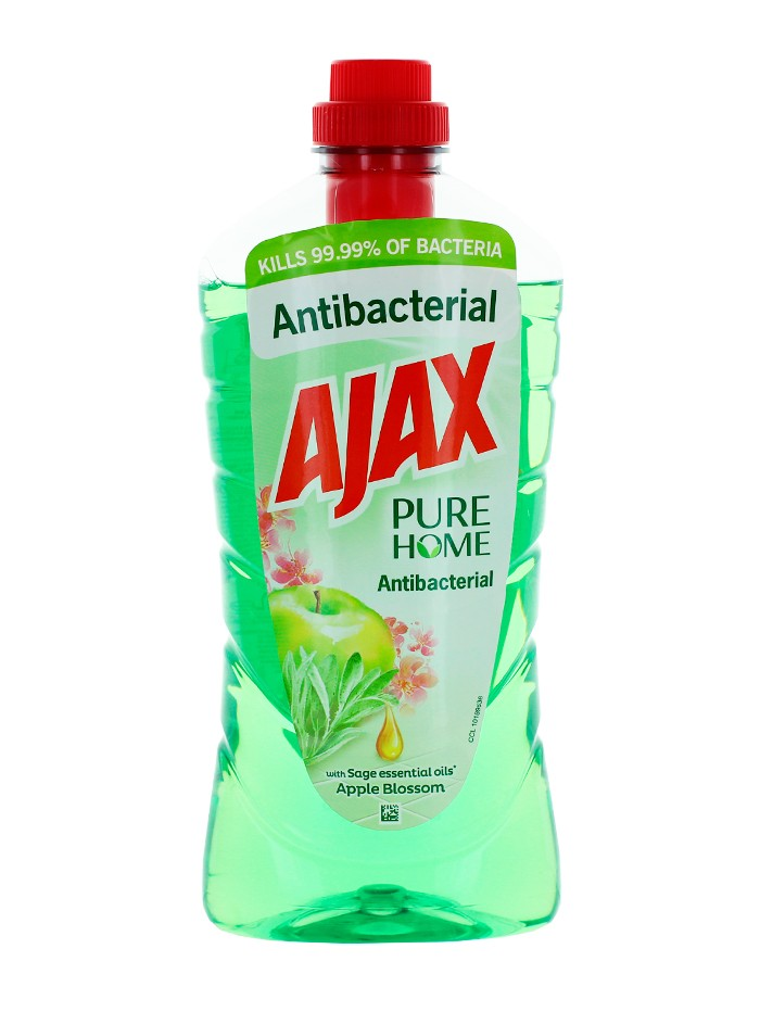 Ajax Detergent Pardoseli Antibacterial 1L Apple imagine produs
