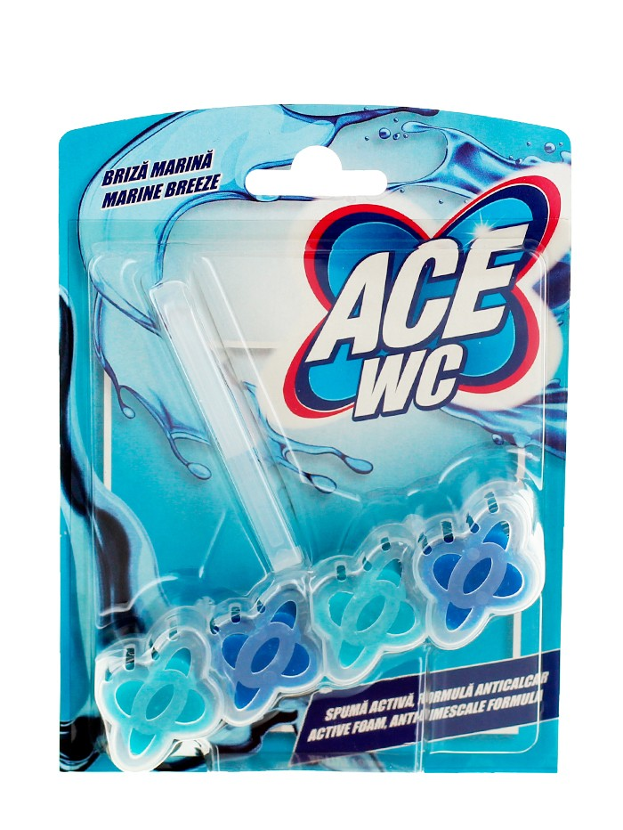 Ace Odorizant wc cu suport 48 g Marine Breeze imagine produs