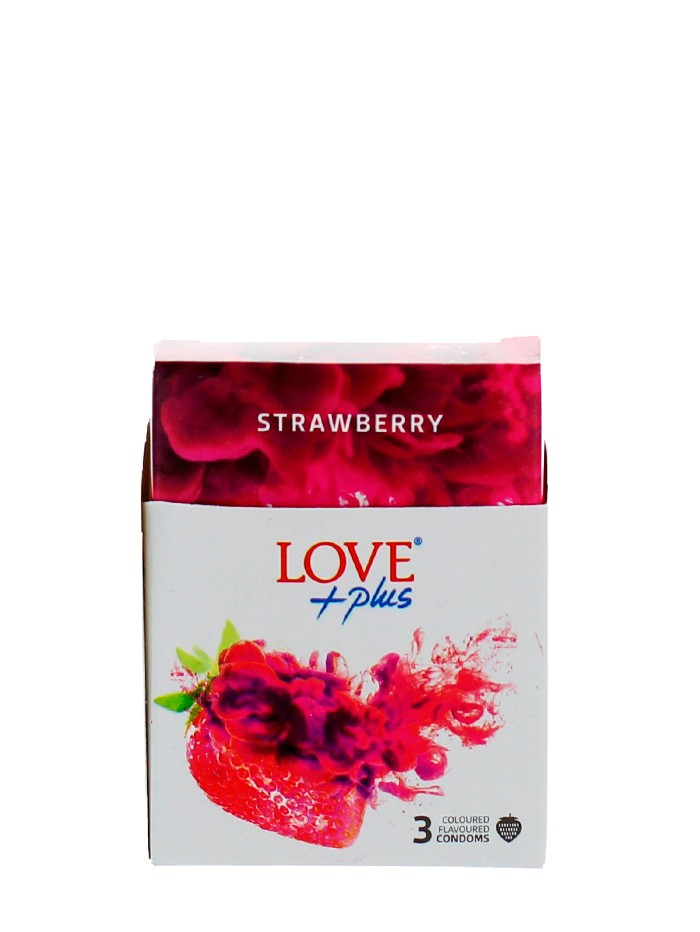 Love Plus prezervative 3 buc Strawberry imagine produs