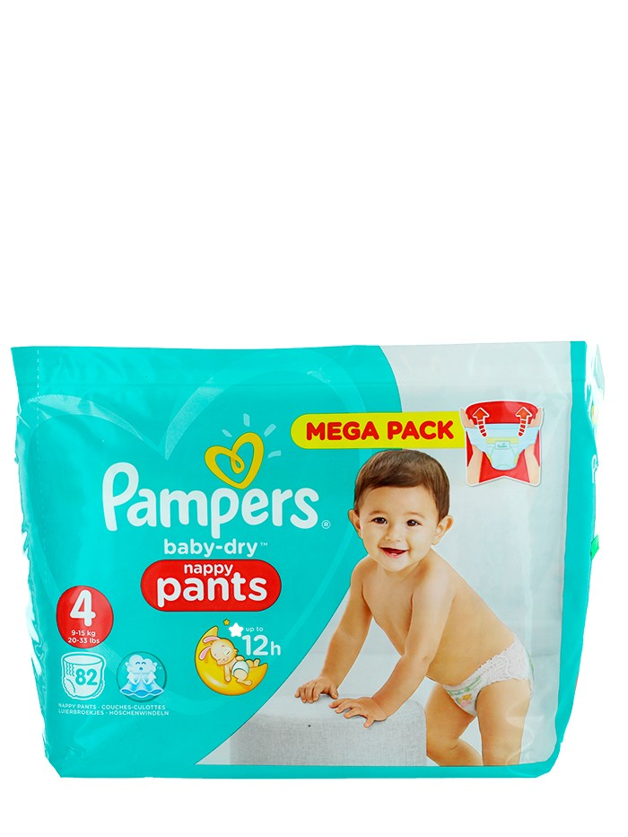 Pampers scutece chilotel nr.4 9-15 kg 82 buc Baby-Dry imagine produs