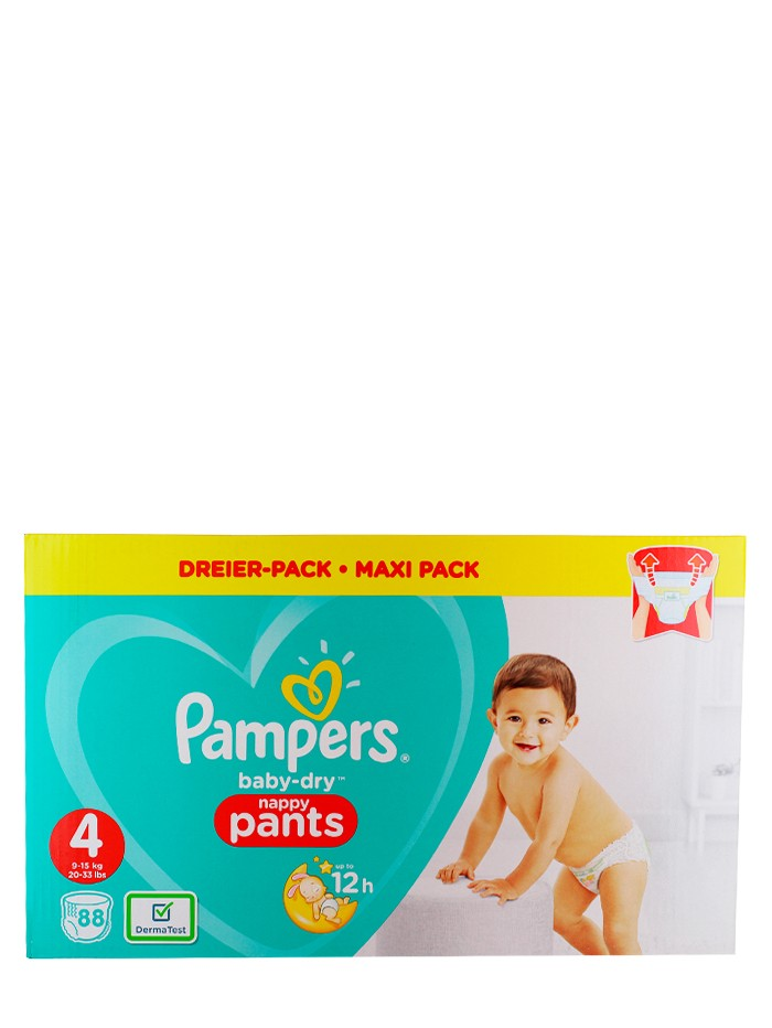 Pampers Scutece chilotel nr. 4 9-15 kg 88 buc Baby-Dry imagine produs