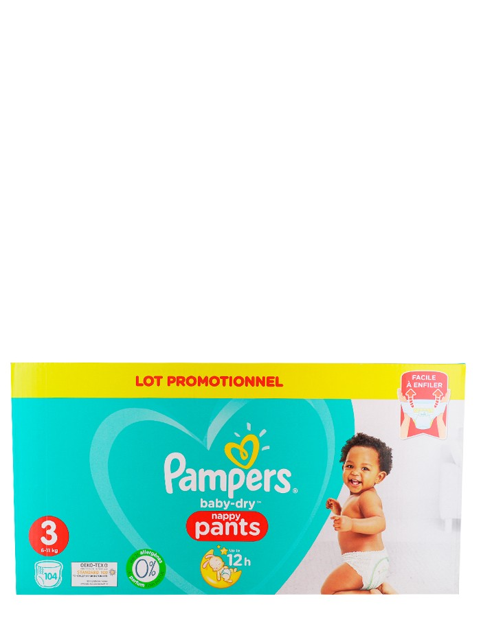 Pampers scutece chilotel nr. 3 6-11 kg 104 buc Baby-Dry imagine produs