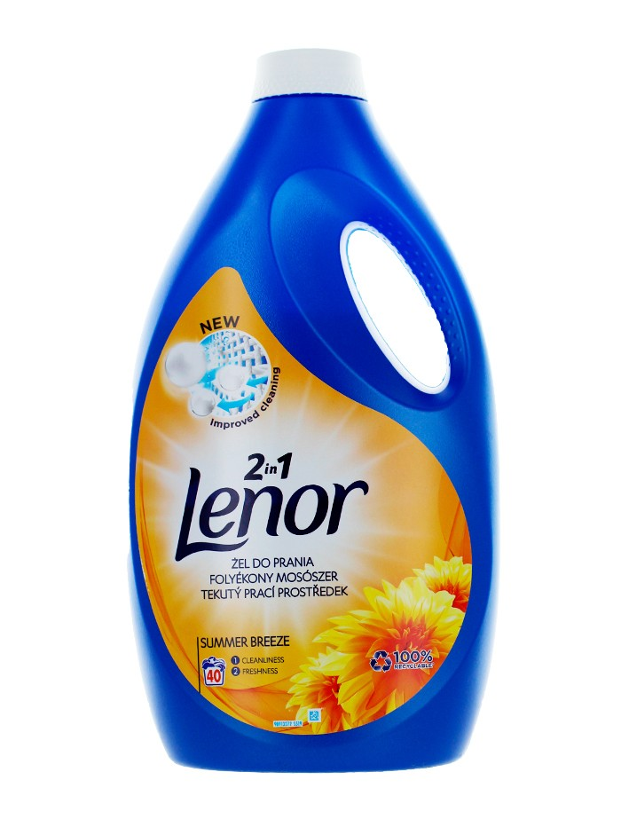 Lenor Detergent Lichid 2.2 L 40 spalari 2in1 Summer Breeze imagine produs