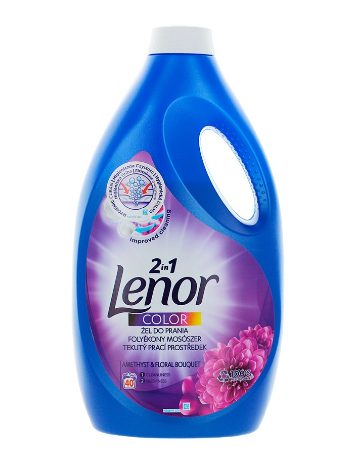 Lenor Detergent Lichid 2.2 L 40 spalari 2in1 Amethyst&Floral Bouquet imagine produs