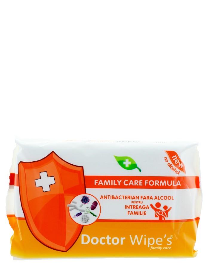 Dr. Wipe's Servetele umede antibacteriene 72 buc Fara Alcool imagine produs