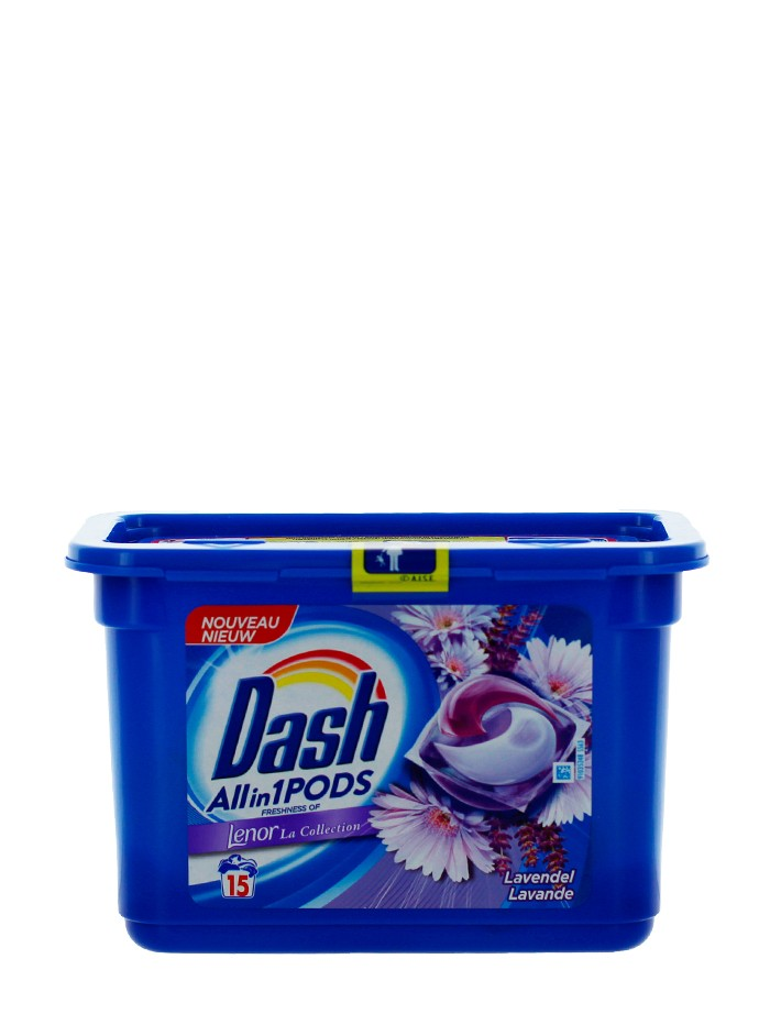 Dash Detergent Capsule 15 buc All in1 Lavender with Lenor imagine produs