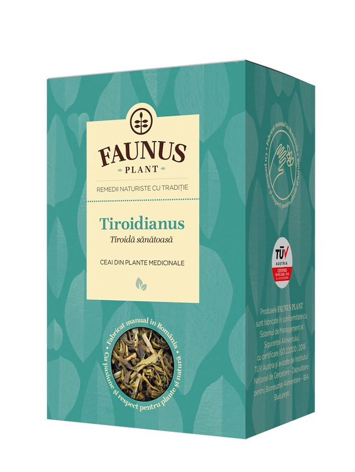 FAUNUS Ceai Tiroidianus 90 g (Tiroida sanatoasa) imagine produs