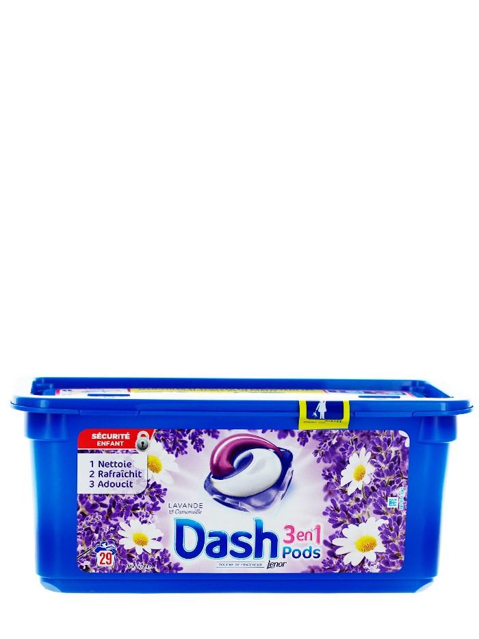 Dash Detergent Capsule 29 buc 3in1 Lavanda&Camomille imagine produs
