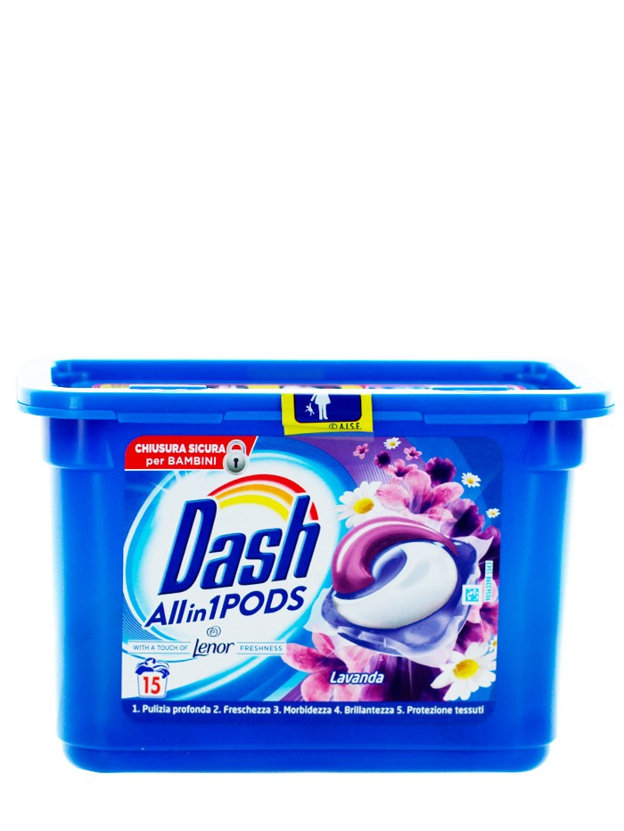 Dash Detergent Capsule 15 buc All in1 Lavanda imagine produs