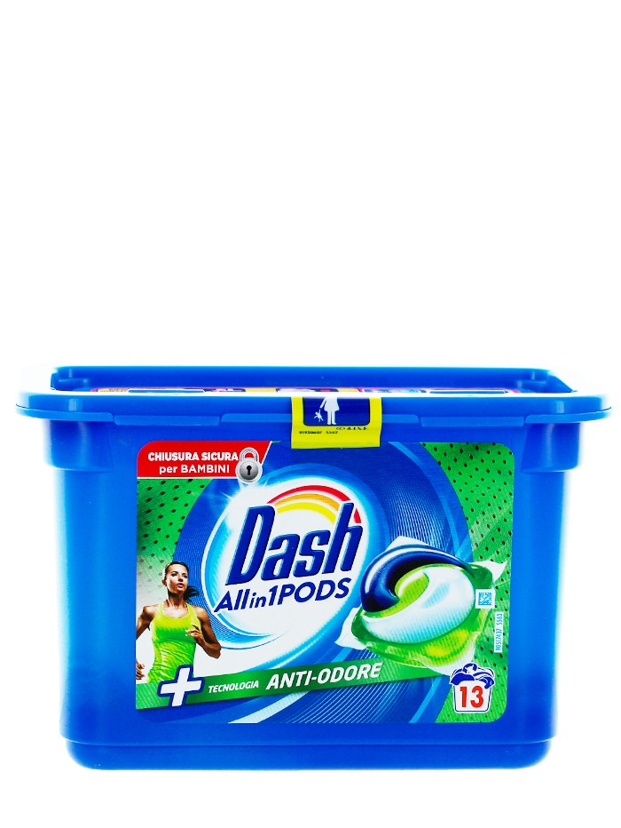 Dash Detergent Capsule 13 buc All in1 Anti-Odore imagine produs