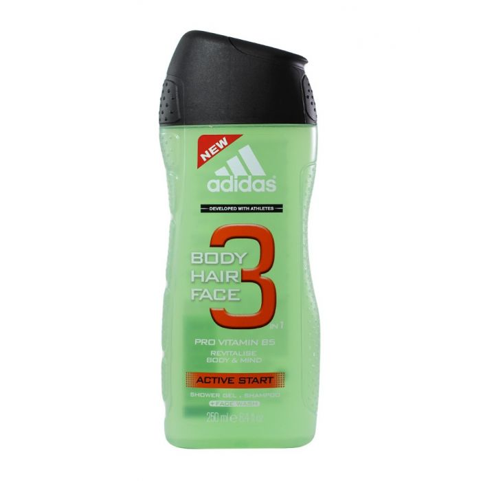 Adidas Gel de dus Barbati 250 ml Activ Start 3 in 1