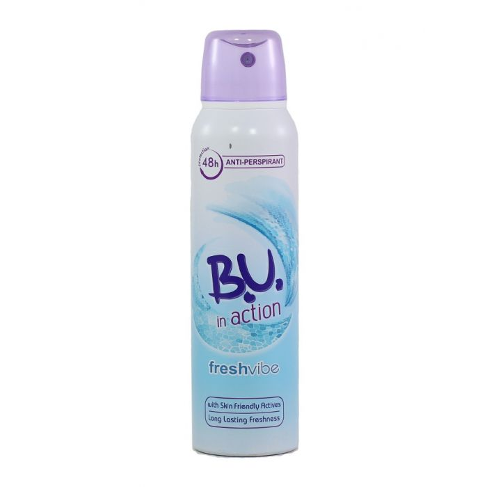 B.U. Spray Deodorant 150 ml Action Freshvibe