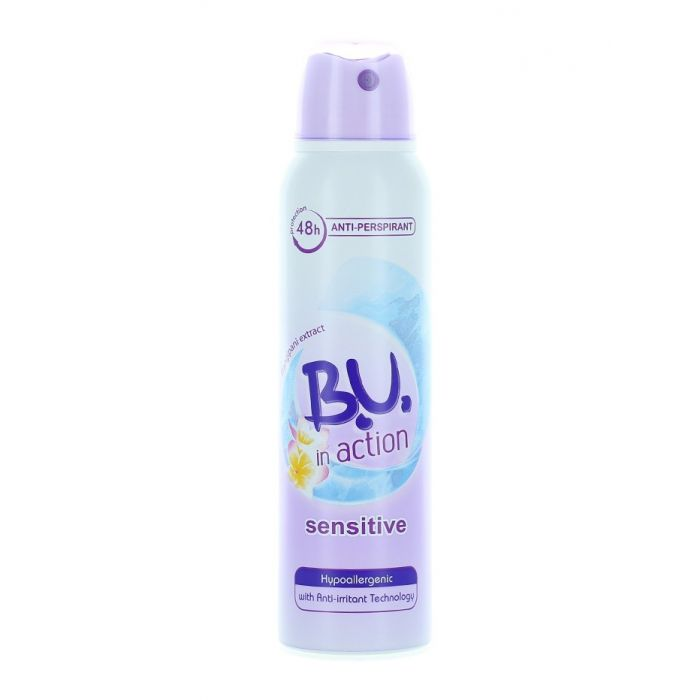 B.U. Spray Deodorant 150 ml Action Sensitive